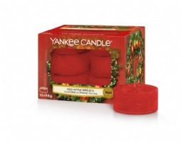 Red Apple Wreath Yankee Candle Tea lights