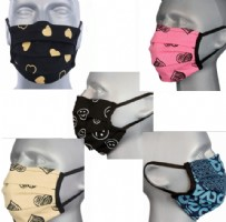 Adult Washable Face Masks  - 5 Design Mix (pleated) Pack of 5 + 2 FREE Navy Msks