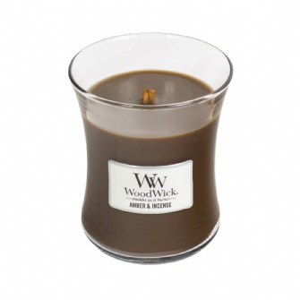 Amber and Incense Medium Woodwick Candle