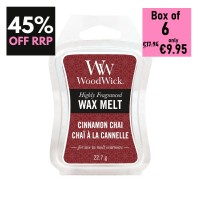 Pack of 6 - WoodWick Wax Melts - Cinnamon Chai
