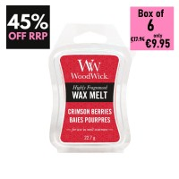 Pack of 6 - WoodWick Wax Melts - Crimson Berries