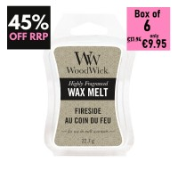 Pack of 6 - WoodWick Wax Melts - Black Amber & Citrus