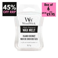 Pack of 6 - WoodWick Wax Melts - Island Coconut