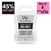 Pack of 6 - WoodWick Wax Melts - Lavender & Cedar