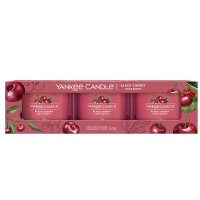 Yankee Candle Black Cherry Set of Three Filled Votives