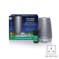 Yankee Candle Sleep Diffuser Silver Starter Kit & Peaceful Dreams