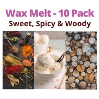 10 Melts - Woody - Sweet - Spicy