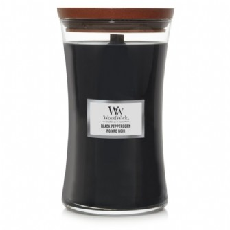 Black Peppercorn WoodWick Candle Large Jar