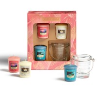 Yankee Candle The Paradise Collection 3 Votive 1 Holder Gift Set