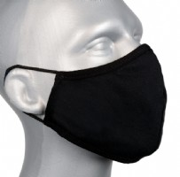 Adult Protective Washable Face Masks - Bell Mask BLACK (no nose wire) - Pack 5