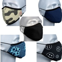 Children's Face Covering - Pack 5 - Dark Mix