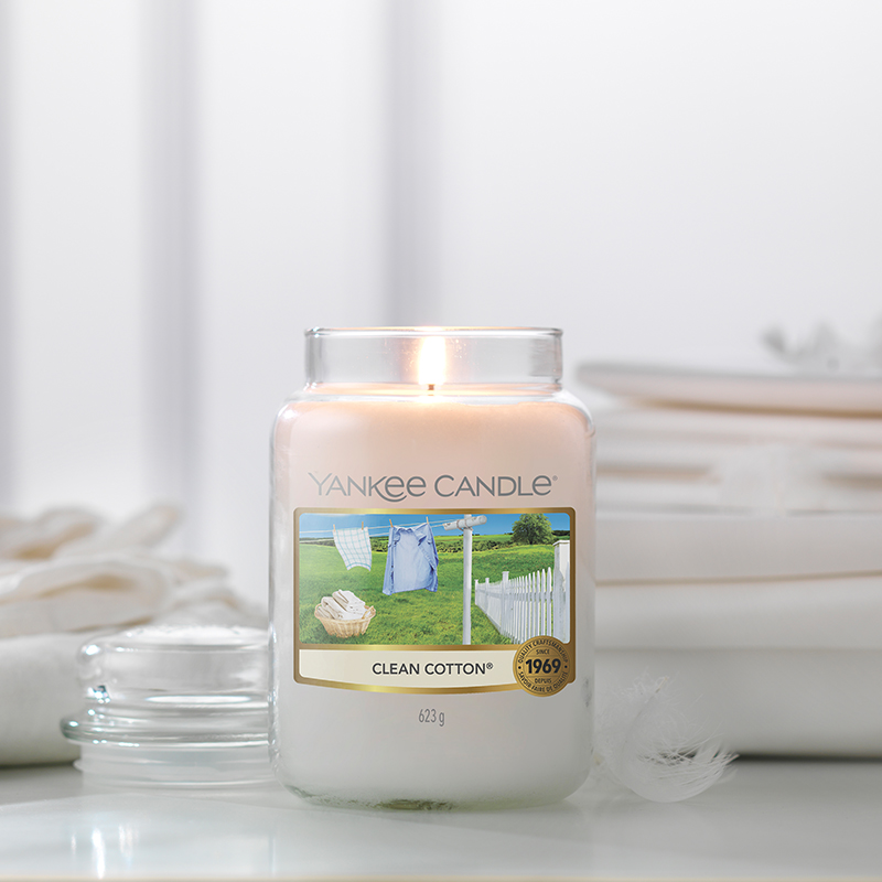 Clean Cotton Large Yankee Candle