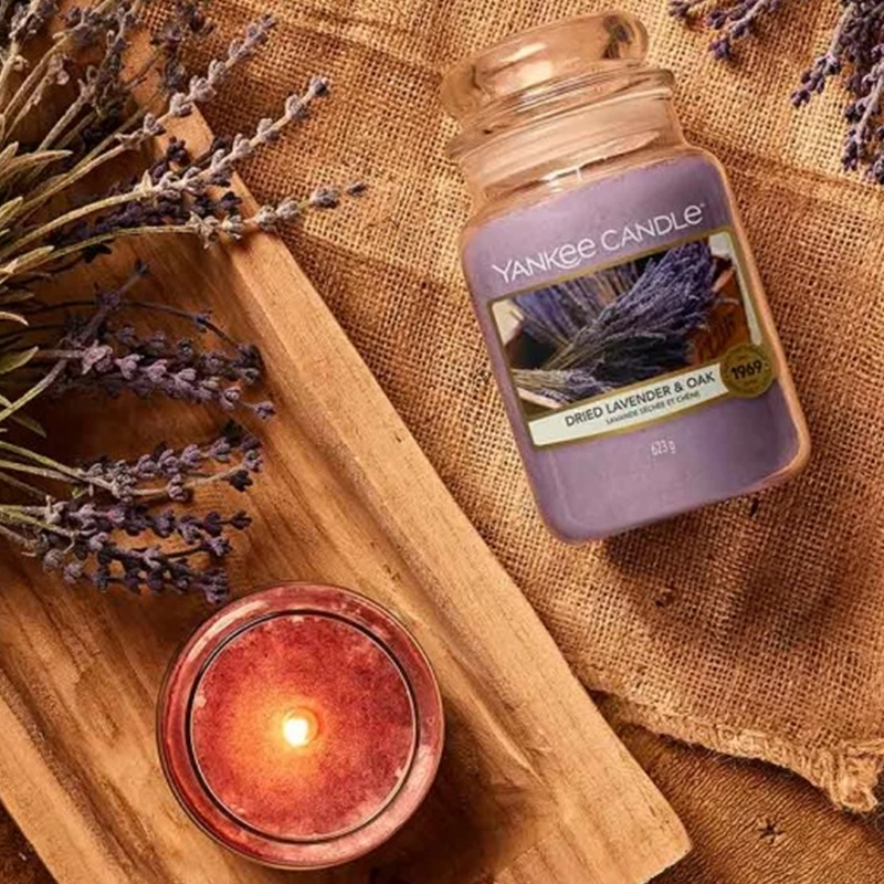 Dried Lavender & oak Large Yankee Candle