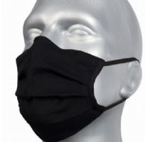 Adult Protective Washable Face Masks - Black (Pleated) - Pack of 5