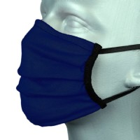Adult Protective Washable Face Masks - Classic Navy (Pleated) - Pack of 5