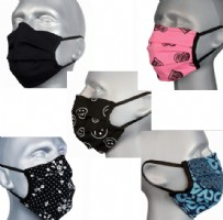 Protective Washable Face Masks - Multi-Mix (Pleated)  - Pack 5 different designs
