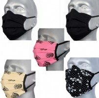 Protective Washable Face Masks - Mixed Pack (Pleated)  - Pack 5 with 4 different designs