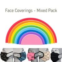 Protective Washable Face Covering - Pack of 5 - Mixed Colours