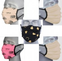 Adult Washable Face Masks - Lady Mix (Pleated) Pack 5 + 2 FREE Navy
