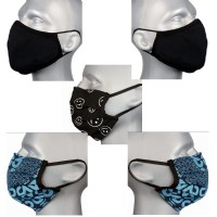 Protective Washable Face Masks - Dark Mix  - Pack 5