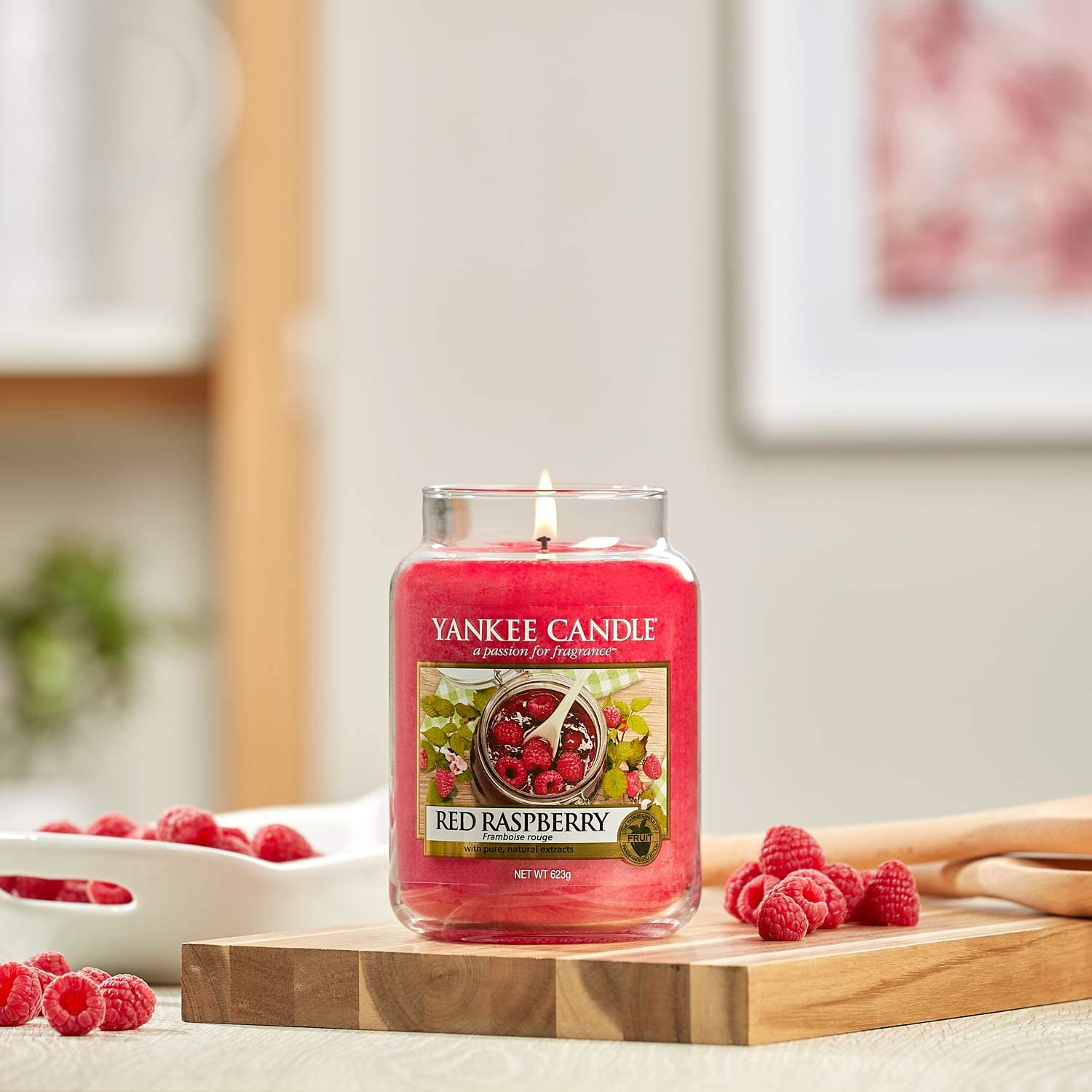 Red Raspberry Large Yankee Candle