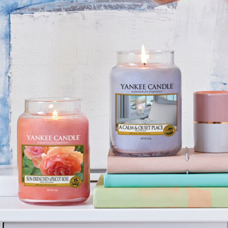 Sun-Drenched Apricot Rose Large Yankee Candle