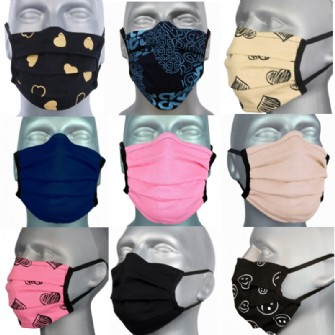 10 Pack Protective Washable Face Masks -  Ultra Mix (Pleated)
