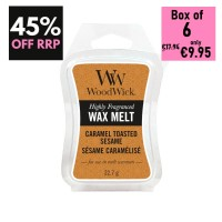 Pack of 6 - WoodWick Wax Melts - Caramel Toasted Sesame