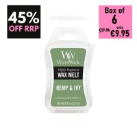Pack of 6 - WoodWick Wax Melts - Hemp & Ivy