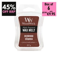 Pack of 6 - WoodWick Wax Melts - Redwood