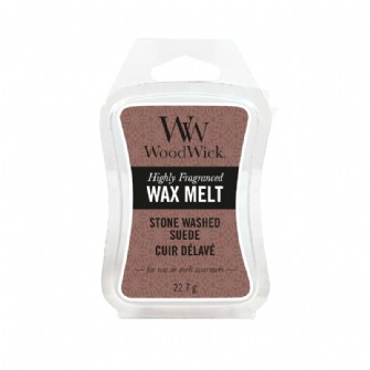 WoodWick Wax Melt - Stone Washed Suede