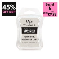 Pack of 6 - WoodWick Wax Melts - Warm Wool