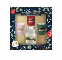 Yankee Candle Countdown to Christmas 3 Votive and Small Jar Candle Gift Set