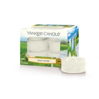 Clean Cotton Yankee Candle Tea Lights - Box 12