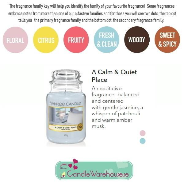 A Calm & Quiet Place Large Yankee Candle