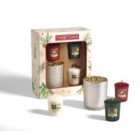 Yankee Candle 3 Votive Candles 1 Holder Gift Set